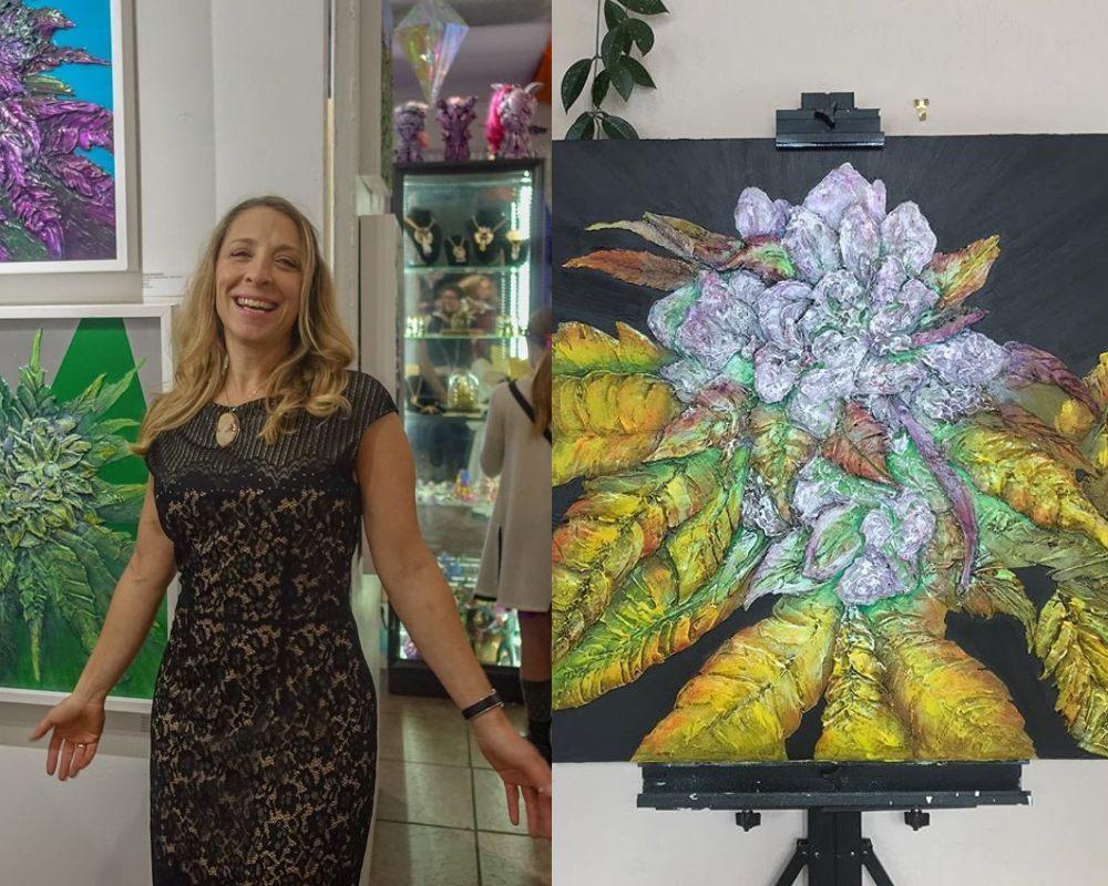 Nación Cannabis | Alyssa Serpentini, la artista que normaliza el cannabis a través de la pintura